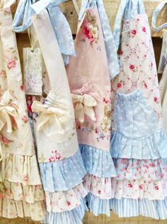 Rose aprons for the Rose Cottage!
