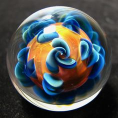 hollow glass explosion marble by Andrew Groner
