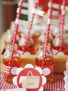 Little Red Riding Hood 1st Birthday Party Full of Really Cute Ideas via Kara's Party Ideas KarasPartyIdeas.com #littleredridinghoodparty #fi...