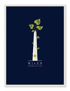 Wilco Washington DC  Show poster for Wilco's 2004 performance in Washington D.C.