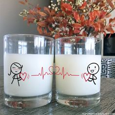 Ba-bum. Ba-bum. Ba-bum! You love them so dearly you're sure they can feel your heart beating from a distance … no stethoscope required! Tell your loved one Love You Every Beat of My Heart with these whimsically romantic couple glasses. Show them the path of your heartbeat as it leads you, time and again, back to their side, back to the person with whom your heart feels at home. Gifts For Your Boyfriend, Gifts For Husband, Girlfriend Gift, Boyfriend Girlfriend, Valentines Day Gifts For Him, Birthday Gifts For Her, Couple Pillowcase, Couples Coffee Mugs, Wedding Gifts For Couples