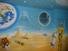 Star Wars mural. Yoda