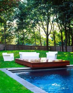 landscape: pool time via TheDesignerPad - The Designer Pad - A Funky-ChicRetreat