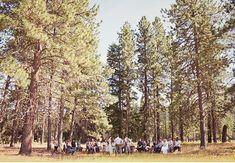 Beautiful, tiny outdoors wedding