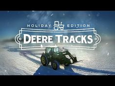 DeereTracks | Christmas Edition - FARMER CREATES AMAZING SNOW ART WITH TRACTOR & DRONE - YouTube