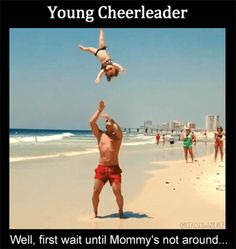 Training To Be A Cheerleader…
