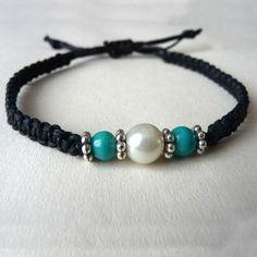 Seaside pearl beach bracelet - Folksy