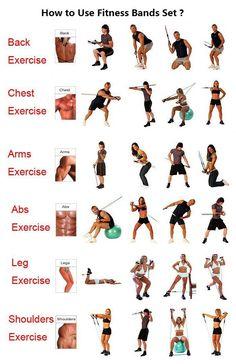 11 Pcs Resistance Bands Set Tube Gym Exercise Set Yoga Fitness