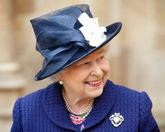 Queen Elizabeth II attends a Service of Thanksgiving to mark the Anniversary of VE Day at Westminster Abbey on May 2015 in London, England. Get premium, high resolution news photos at Getty Images Queen Hat, Foto Real, British Royal Families, Royal Queen, Isabel Ii, Her Majesty The Queen, Prince Phillip, Queen Of England, Stylish Hats