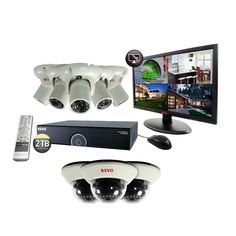 Revo 16-Channel 2TB 960H DVR Surveillance System with (8) 1200 TVL 100 ft. Night Vision Cameras and 21.5 in. Monitor