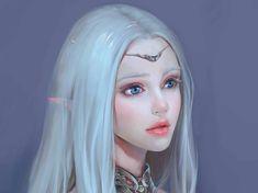 white green hair fantasy - Google-Suche