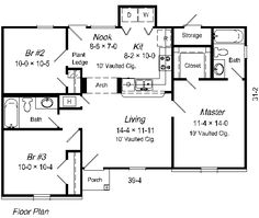 Hampton 1100 5362 3 Bedrooms and 25 Baths The House Designers