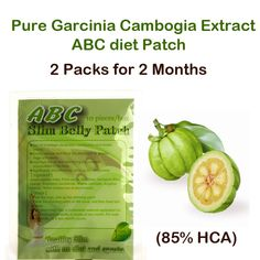 6613efc26 ABC diet patch Pure Garcinia cambogia extract weight loss effective Burn Fat  85% HCA 60
