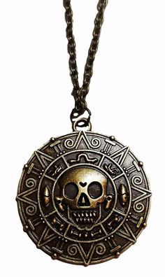 Pirates of the Caribbean Jack Sparrow Aztec Coin Metal Pendant NecklaceComes on 20 inch chainGreat Gift for any Occasion Aztec Religion, Jack Sparrow Tattoos, Aztec Calendar, Aztec Warrior, Coin Pendant Necklace, Aztec Pillows, Pirates Of The Caribbean, Fantasy, Bracelet Set