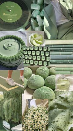 Sage green/matcha aesthetic wallpaper