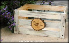 Card Box. Add Pine Cones greenery...