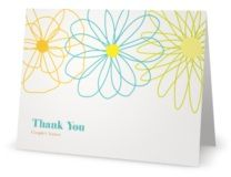 Thank You Folded Note Cards bright flower    THIS ONE IS CUTE TOO