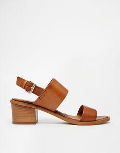 Image 2 ofCarvela Kimberly Tan Leather Block Heeled Sandals