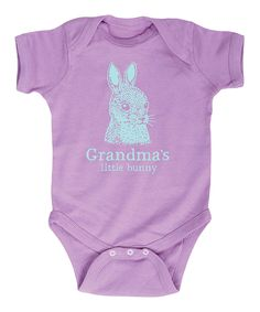 Look what I found on #zulily! Lavender& Blue 'Grandma's Little Bunny' Bodysuit - Infant by It's Just Me #zulilyfinds