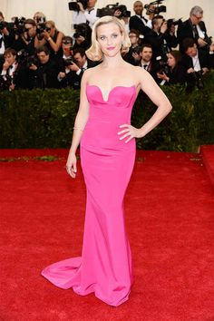Surprisingly fresh in pink >> Reese Witherspoon | All The Pretty Dresses From The 2014 Met Ball