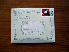 Birds of a Letter stationery envelope (by Missive Maven)