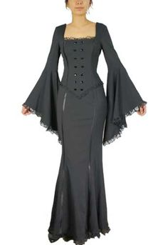 Plus Size Black Gothic Mermaid Tail Dress  $67.99 : Mystic Crypt, the most unique, hard to find items at ghoulishly great prices!