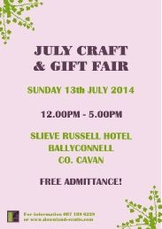 Our Birthday Week Craft & Gift Fair In The Slieve Russell Hotel. July Crafts, Summer Crafts, Birthday Week, Event Organization, Event Calendar, Craft Gifts, Handmade Crafts, Free, Events