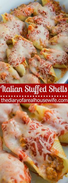 Italian Stuffed Shells. This recipe is so yummy! A favorite of mine for sure and a must try. I can't wait to try it again.