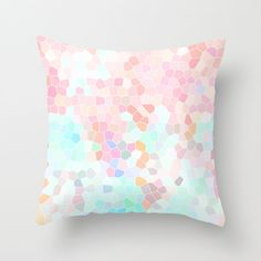 Pastel Throw Pillow Geometric Pillow Cover by HLBhomedesigns