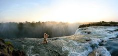 Genevieve Morton at Victoria Falls, Swimsuit 2012 :: Derek Kettela/SI Genevieve Morton, Victoria Falls, Si Swimsuit, Scenery, Mountains, Water, Travel, Outdoor, Destinations
