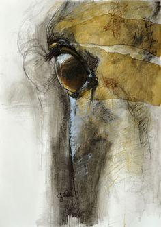 """Saatchi Online Artist: Benedicte Gele; Pastel, Drawing """"Regard XIV"""""""