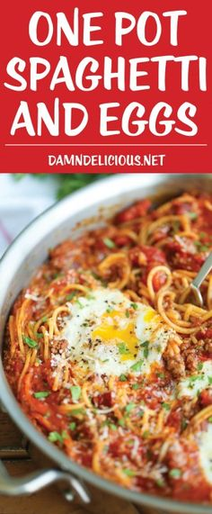 One Pot Spaghetti and Eggs