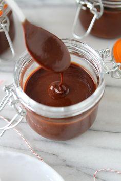 Dark Chocolate Peppermint Hot Fudge Sauce