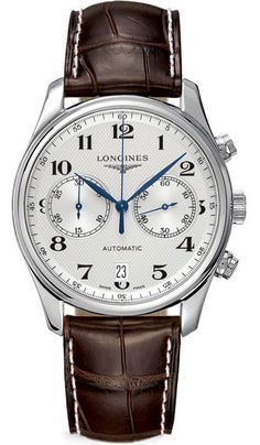 L2.669.4.78.5NEW LONGINES MASTER COLLECTION MENS WATCH FOR SALE    Usually ships within 3 months - Click to view AVAILABLE Luxury Watch Sales  - FREE Overnight Shipping - No Sales Tax (Outside California)- With Manufacturer Serial Numbers- Silver Dial- Date Feature- Chronograph Feature-   Self Winding Automatic Movement- Sapphire Crystal Exhibition Caseback - 3 Year Warranty- Guaranteed Authentic- Certificate of Authenticity- Polished Steel Case- Brown Leather Strap with Crocodile Pattern…