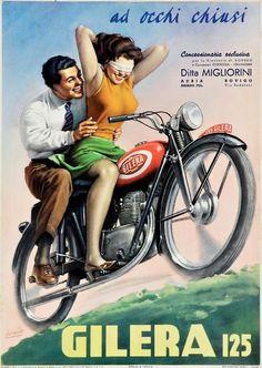 Gino Boccasile, en favor de Gilera 125 (1949).