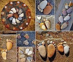 How to Make Creative Stone Footprints DIY Ideas