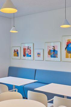 Inblum, studio de design d'espace lituanien basé à Vilnius, présente l'architecture d'intérieur des troisièmes bureaux de Wix.com à Vilnius. #design #architecture