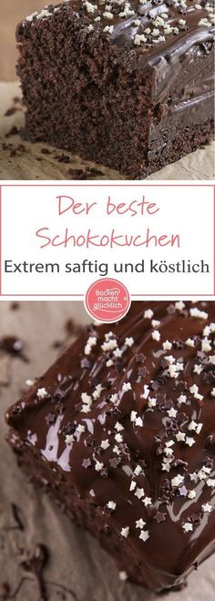 Der beste Schokoladenkuchen Simple chocolate cake recipe for a wonderfully juicy chocolate cake. Whether as a birthday cake or for coffee – this classic chocolate cake is always well received!The best chocolate cake - food Chocolate Cake Recipe Easy, Best Chocolate Cake, Chocolate Recipes, Chocolate Chip Cookies, Chocolate Chocolate, Baking Chocolate, Easy Cheesecake Recipes, Easy Cookie Recipes, Dessert Recipes