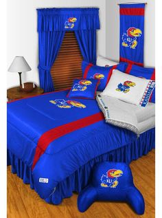 #oBedding - #Sports Coverage Kansas Jayhawks Pillowcase - NCAA College Football Pillow Cover - AdoreWe.com