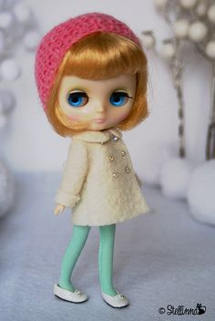Fleur de Neige by *stellinna*, via Flickr   #doll #blythe #middieblythe