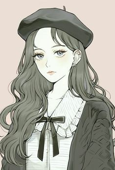 New illustration art girl anime draw Ideas Cool Anime Girl, Pretty Anime Girl, Beautiful Anime Girl, Kawaii Anime Girl, Anime Art Girl, Manga Art, Anime Girls, Manga Girl Drawing, Anime Angel Girl