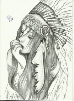 Facing the world Pencil Art Drawings, Art Drawings Sketches, Tattoo Sketches, Tattoo Drawings, Body Art Tattoos, Sleeve Tattoos, Native American Drawing, Native American Tattoos, Native Tattoos