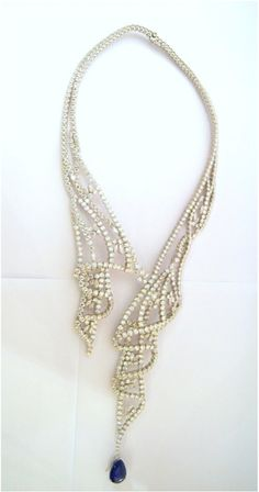 Boucheron diamond and sapphire necklace