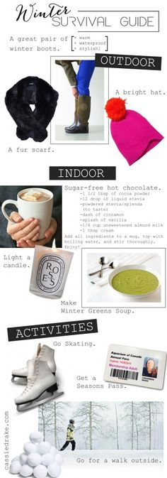 Winter Survival Guide   cassie drake - hot chocolate sounds great!