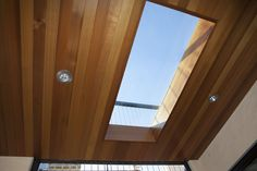 This is a skylight on the maintain with ipe hardwood floors at the upper deck. #architecture Photo Credit: Paul Dyer Photography