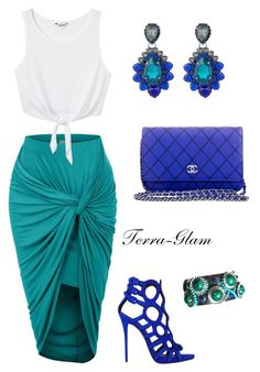 Twisted by terra-glam on Polyvore featuring Monki, Giuseppe Zanotti, Chanel and VICKISARGE