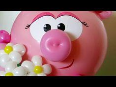 Пятачок для поросенка, хрюши, Нюши / Pig snout balloon twisting - YouTube