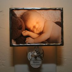 Baptism Personalized Photo Night Light by PhotoExpressions on Etsy, $42.00