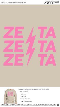 Zeta Tau Alpha Sweatshirt | Sorority Sweatshirt | Greek Sweatshirt #zetataualpha #zeta #zta #Sweatshirt Zeta Tau Alpha, Custom Design Shirts, Greek Life, Sorority, Screen Printing, Sweatshirts, Screen Printing Press, Silk Screen Printing, Trainers