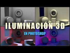 Técnicas de iluminación 3D en Photoshop - YouTube